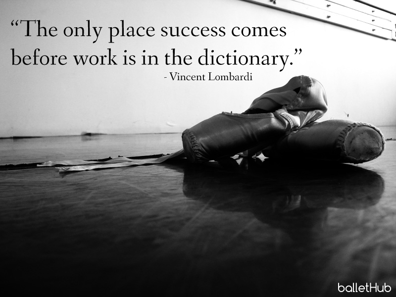 """only place success comes before work dictionary Positive quote: """"the only place success comes before work is in the dictionary"""" – vince lombardi this quote has me wondering what i personally define success as."""